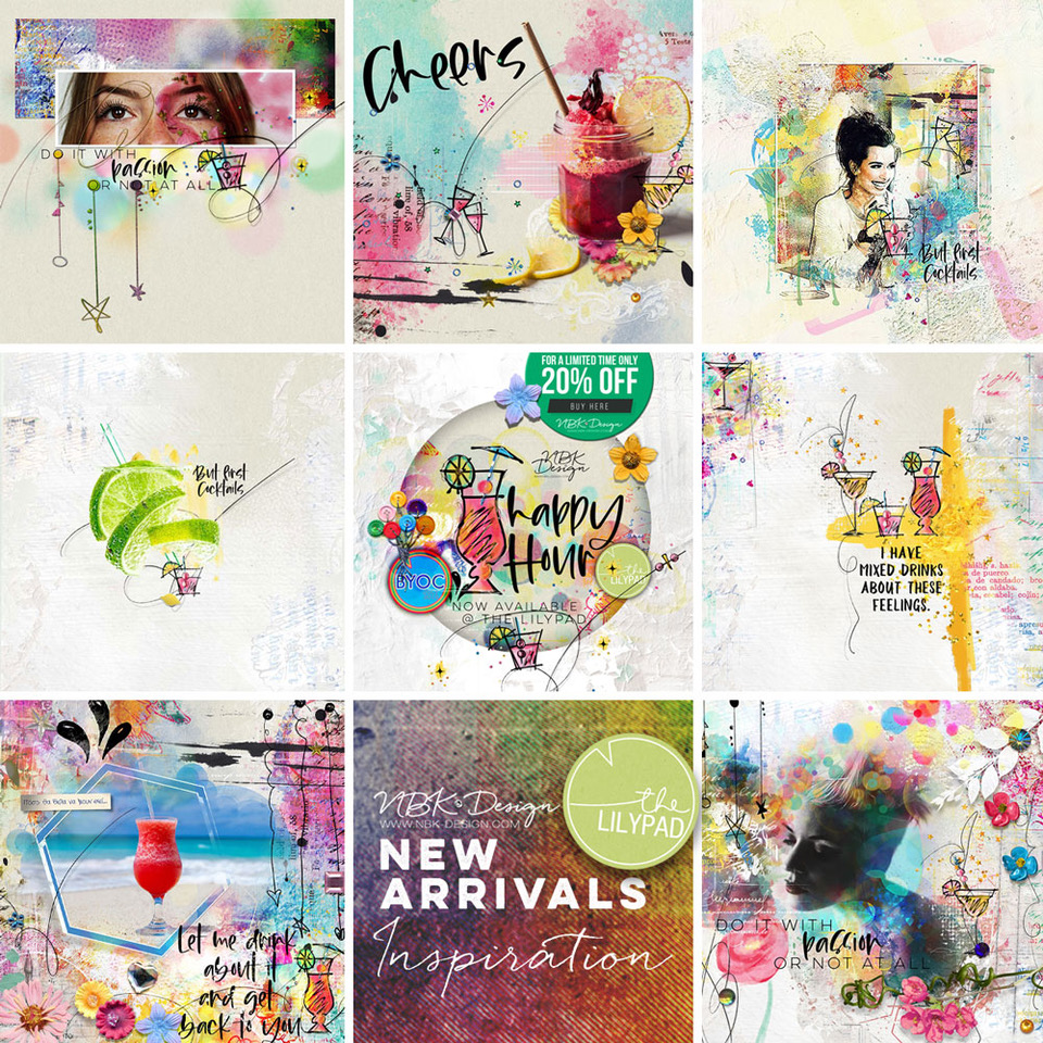 Some CT Layouts with artCrush No17