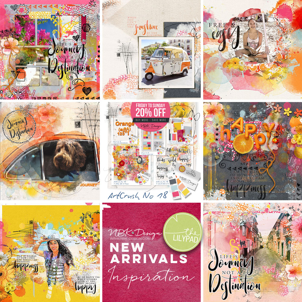 Some CT Layouts with artCrush No18