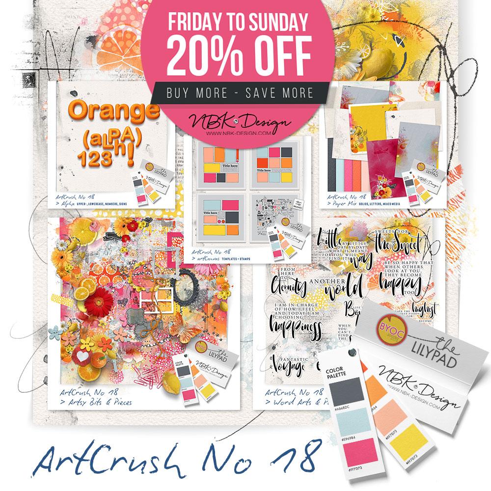 NEW BYOC save 20% and more at artCrush No18
