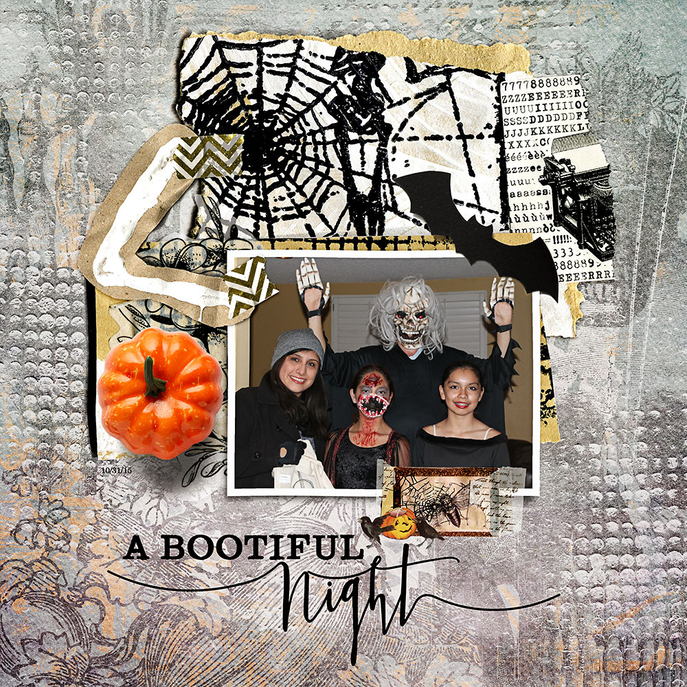 Crafty Art Snippets Halloween  – Inspiration by Flor (aka twinsmomflor)