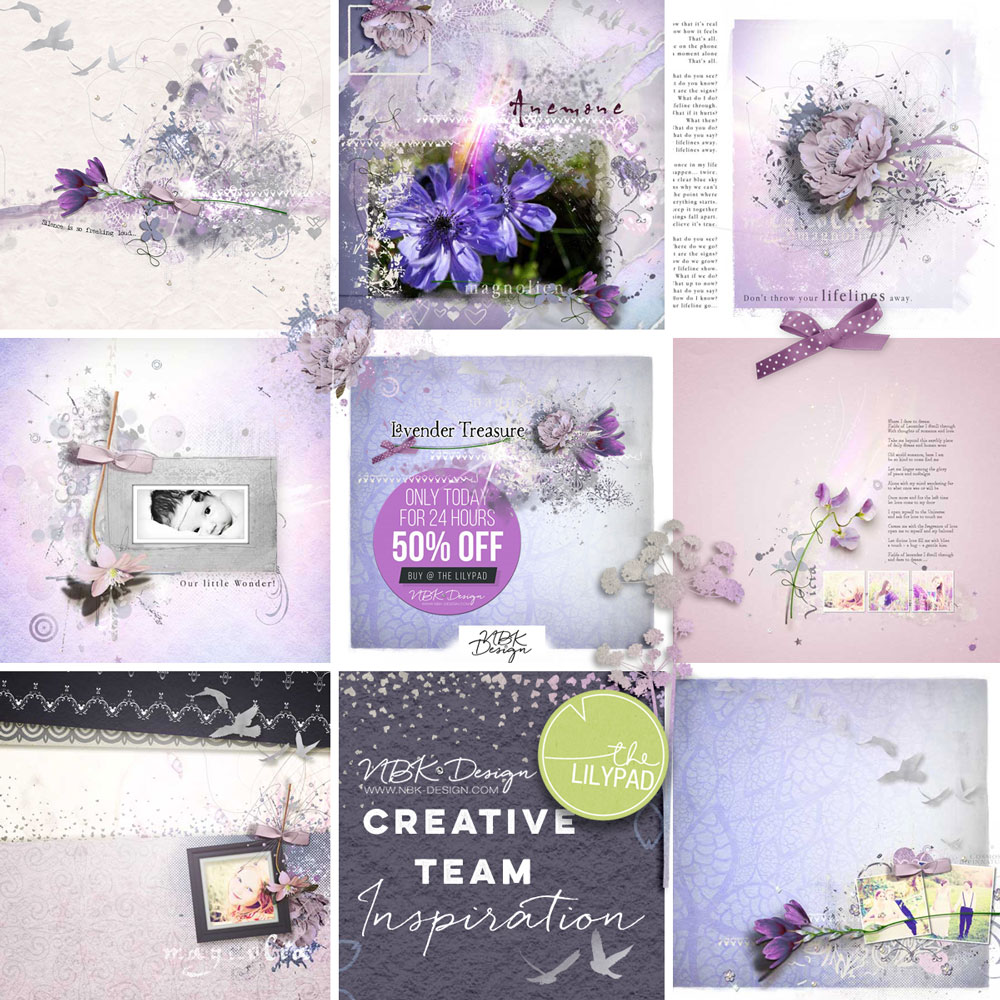 Some CT Layouts with Lavender Treasure
