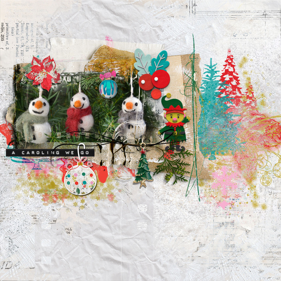 Holly Jolly Collection layout inspiration by Danesa