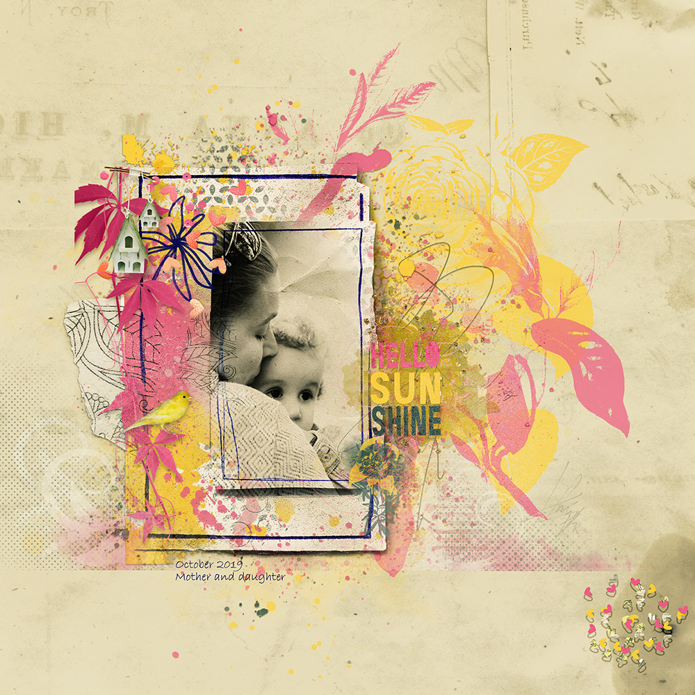 Layout inspiration for craftyARTSnippets No 8  by NBK-Design by Marianne