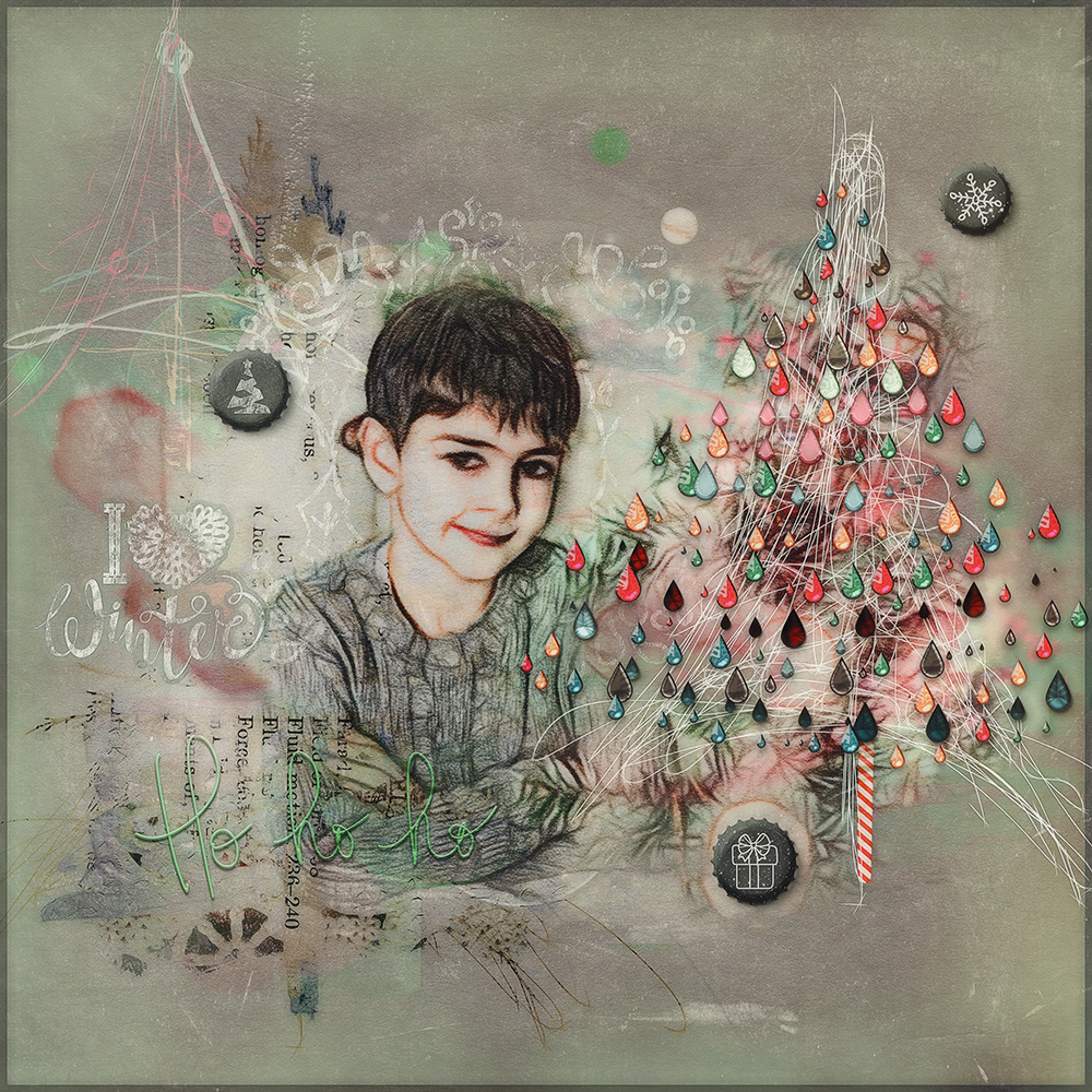Layout inspiration for the Chalky Xmas Collab from NBK Design and Joyce Paul Designs by Marianne