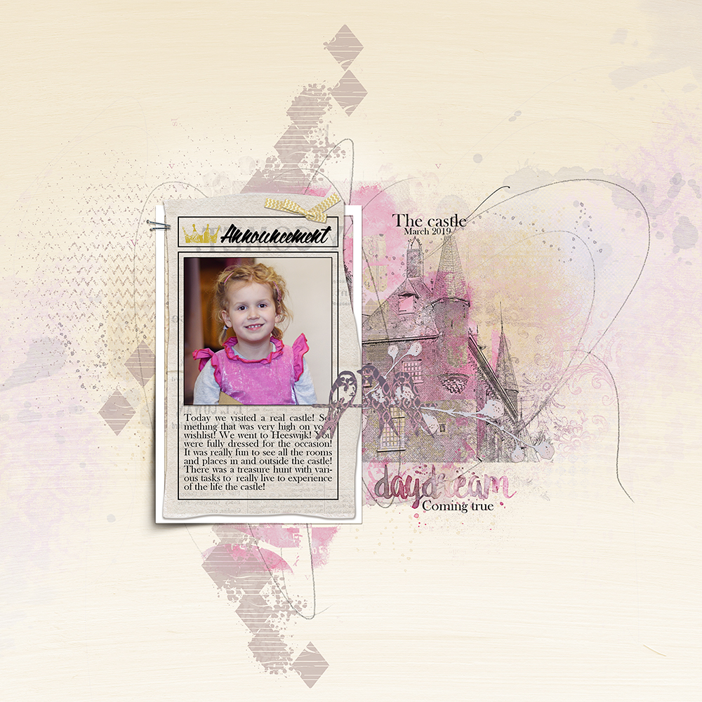 Layout inspiration for the Newspaper Clipping MasksNo2 and Daydream (mini) by Marianne