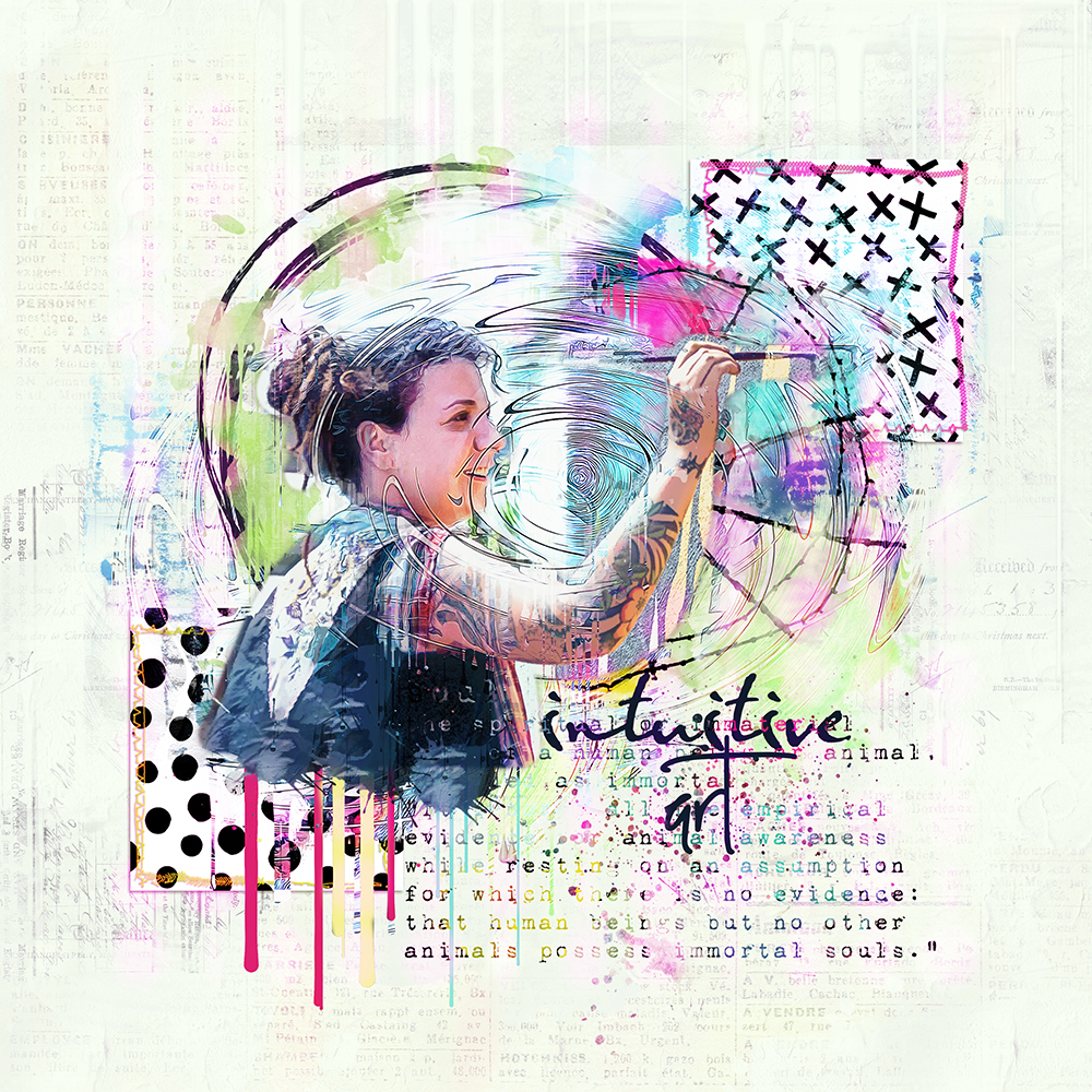 Layout inspiration for the Intuitive Collection and the new Easy Peasy products by Marianne