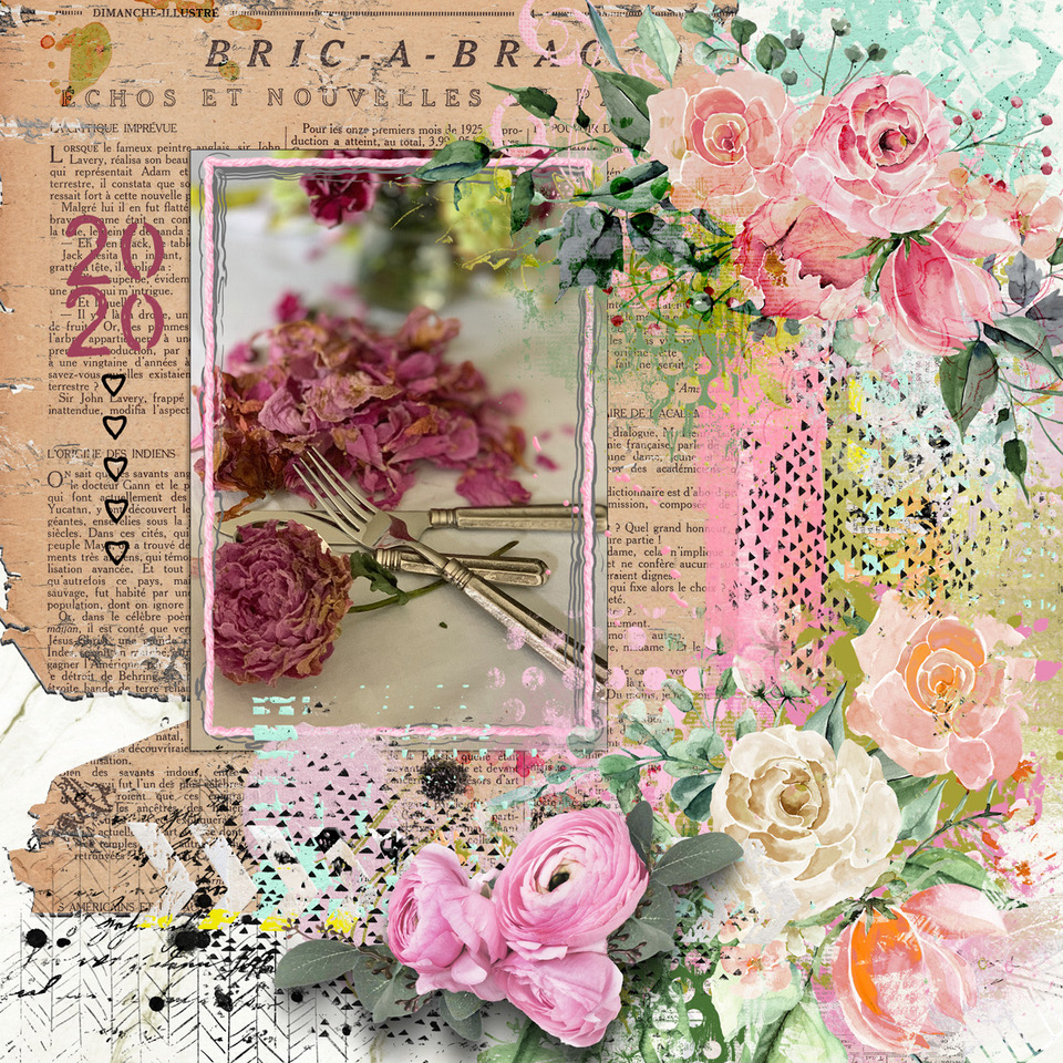 Layout inspiration, by Danesa, using artCrush No. 27