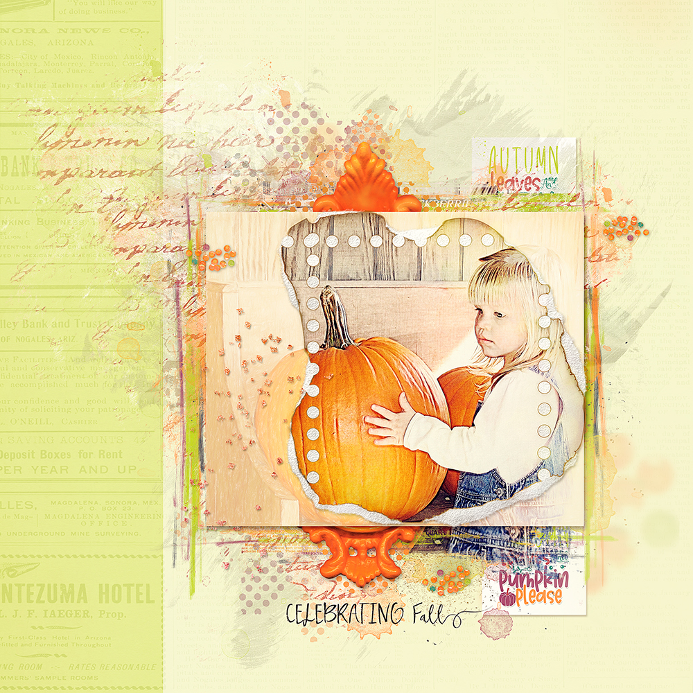 Layout inspiration for Easy Peasy-Autumn Breeze by Marianne