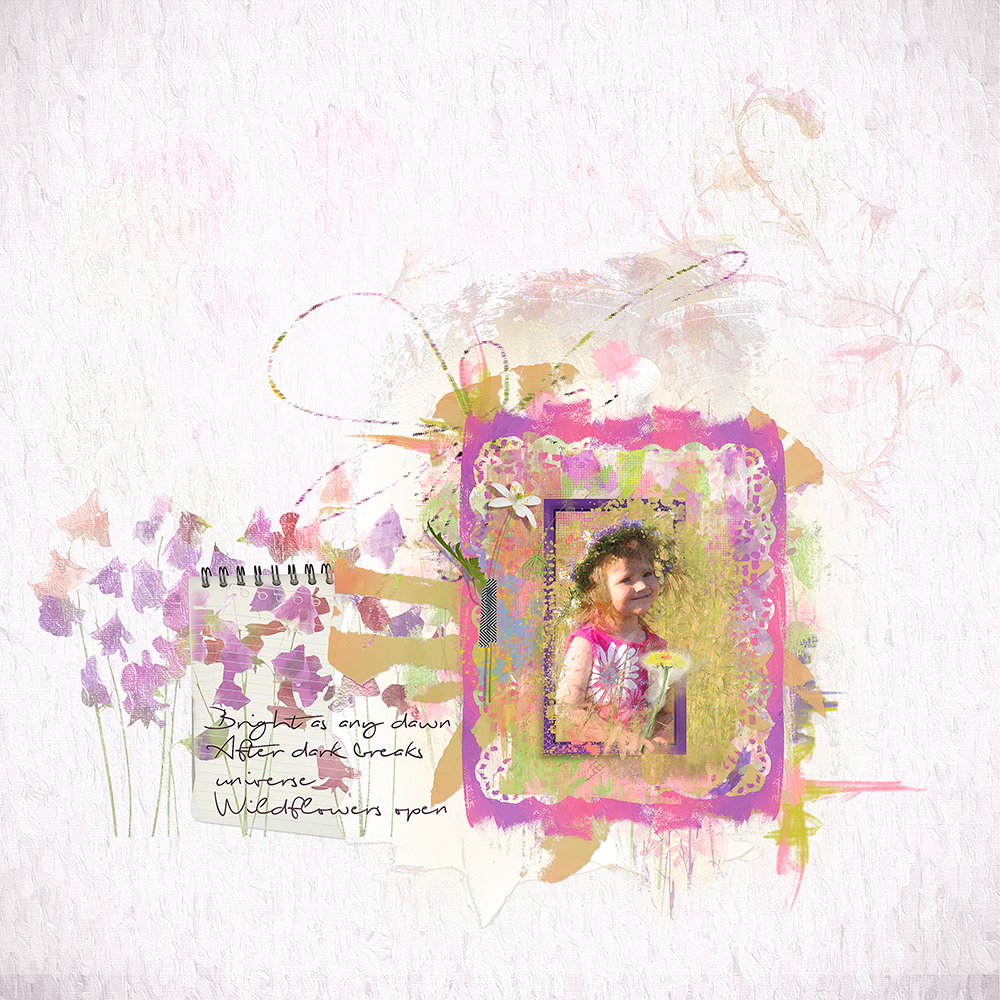 Layout inspiration for the Wildflowers Collection by Marianne